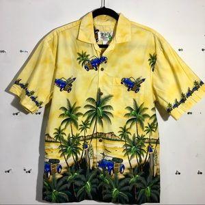 Vintage M Hawaiian shirt VW design KY'S USA